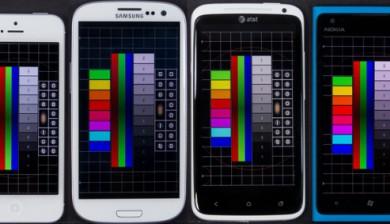 Móviles de pantallas distintas