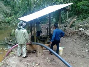 extracción agua