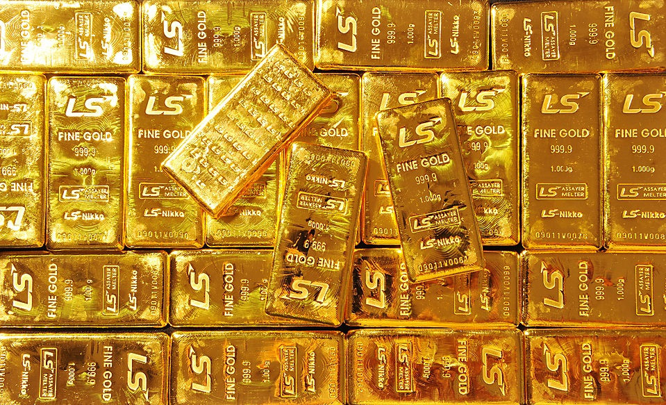 Mineral Columbita Tantalita Coltan Lingotes De Oro Con