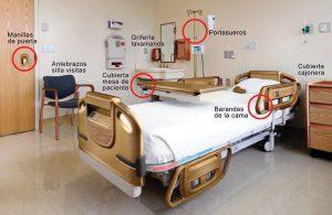 habitación hospital cobre