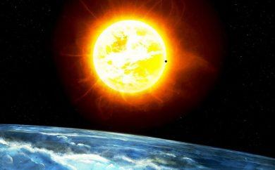 teletransporte de energía del sol